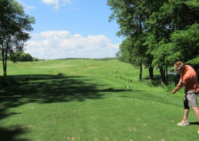 2017 Blackwolf Run Meadow Valleys Course Hole 3 Tee Fred Berry
