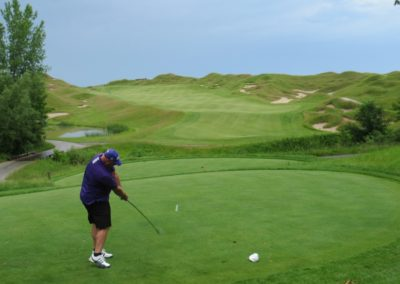 2017KI Whistling Straits Irish Course Hole 10 Tee Frank Gavin