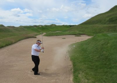2017KI Whistling Straits Irish Course Hole 11 Bunker Fred Berry