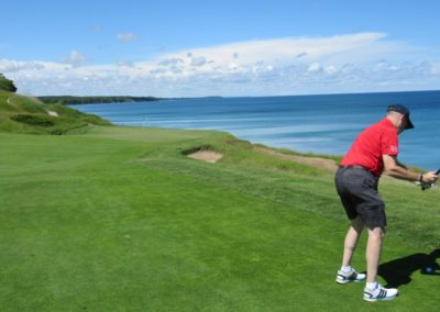 2017KI Whistling Straits Straits Course Hole 13 Approach JJK