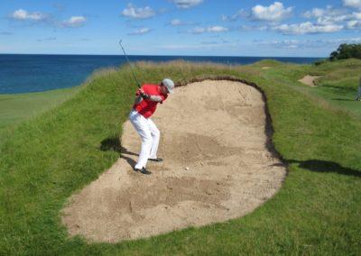 2017KI Whistling Straits Straits Course Hole 17 Bunker Jason Kauflin