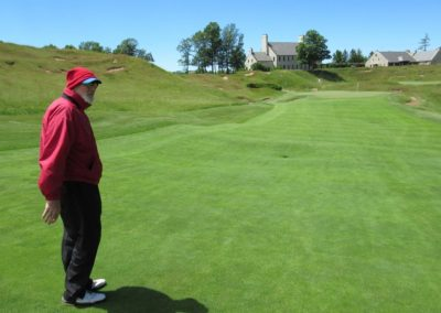 2017KI Whistling Straits Straits Course Hole 9 Approach Dad